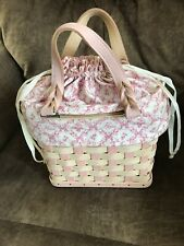 Longaberger 2006 Whitewashed Horizon of Hope Basket Purse Combo Liner Protector