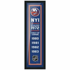 """New York Islanders Stanley Cup Champions Photo (Size: 8"""" x 24"""") Framed"""