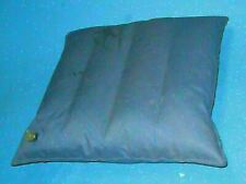 """Vintage BLUE Mini SMALL Canvas RAFT  PILLOW BLOW UP 60'S  camping 15"""" X 14""""  5v4"""