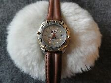 New - NASCAR Ladies Quartz Watch with a Leather Band
