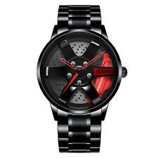 NIBOSI Wheel Rim Hub Watch Men Waterproof Sports Car Rim Design Wristwatch