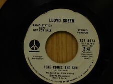 "Lloyd Green 45 Here Comes The Sun / Stereo, Mono ~ Monument VG ""Beatles Song"""