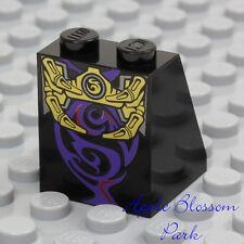 LEGO Wizard BLACK MINIFIG SKIRT - Ninjago Overlord Girl Dress Lower Bottom Slope