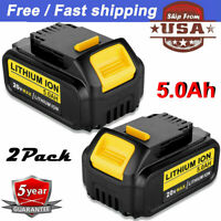 20Volt For DEWALT DCB206-2 20V MAX LITHIUM ION XR 5.0AH 2 PACK BATTERY DCB205-2