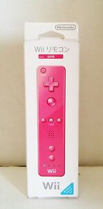 NEW Official Pink Wireless Remote Controller for Nintendo Wii Wii U OEM JAPAN L2