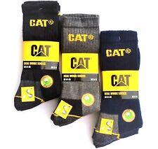 12 Paar CAT® REAL WORK Caterpillar Socken Arbeitssocken Strümpfe 46-50 grau