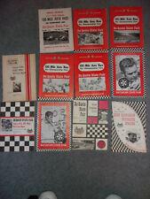 Du Quoin State Fair Speedway USAC Auto Race Program 1965-1974 11 PROGRAMS
