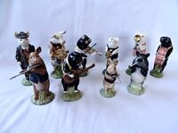 Beswick Promenade Pig Band 9 Piece Collection Plus Pig Gentleman Figural