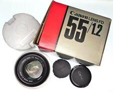 Canon FD 55mm f1.2 S.S.C  #100330 ............ Minty w/Box,Caps