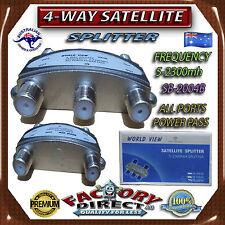 Professional Digital 4-Way F Type TV Antenna Cable Satellite Splitter Aerial