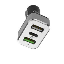 Dual USB Quick Car Charger USB C QC 3.0 For iphone 7 / 6s / 6 / Galaxy S8
