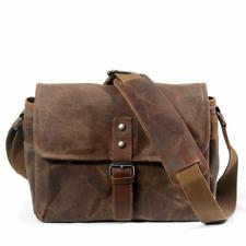 New Camera Bag Travel Bag Cotton Canvas+Leather Shoulder Messenger Bag