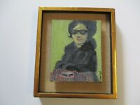 VERNON LOBB OIL PAINTING EXPRESSIONIST WOMAN PORTRAIT VINTAGE LISTED AMERICAN