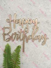 Happy Birthday Acrylic Cake Topper Gold