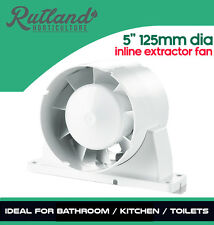 "5"" 125mm Bathroom Shower Inline Extractor Fan For Both Input/Output Ventilation"