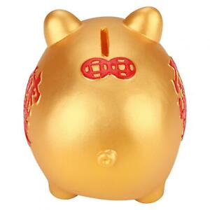 Bank Silicone Material Coin Bank Gold Pig Design For Kids Baby Toy Storing 200