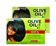 2 X ORS Organic Root Stimulator Olive Oil Hair Relaxer Kit - EXTRA And Normal