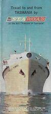 1963 Steamship Schedule PRINCESS OF TASMANIA Australian National Line Auto Ferry