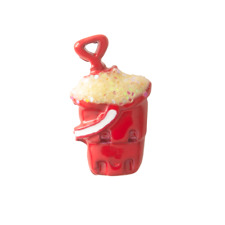 Origami Owl Red Sand Pail Charm