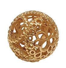 Authentic PANDORA Shine 18k Gold Openwork Flower Charm Pendant 767853