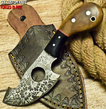 SFK CUTLERY CUSTOM HANDMADE FIXED BLADE D2 TOOL STEEL  FULL TANG HUNTING KNIFE
