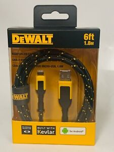 Dewalt DXMA1311322 Reinforced Charging Cable For Micro USB 6' (6ft) for Android