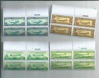 "C13-C15 & C18 "" Graf Zeppelin "". PLATE BLOCKS OF 4  ( COPY. REPRODUCTION.)"