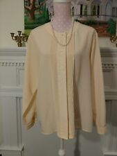 Fashion Attitudes 14 Blouse LS  embroidered, tucked, golden yellow
