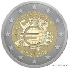 """ESTLAND SPECIALE 2 EURO 2012 UNC:  """"10 JAAR EURO"""""""