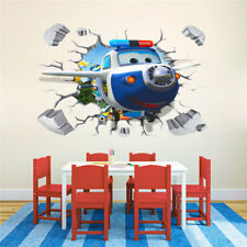 3D Super Wings BJ.BONG Paul Wall Sticker Kids Boy Bedroom Decor Decal Removable