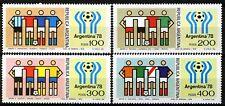 Argentina 1978, 11th World Cup Soccer Championship set Sc# 1188-91 MNH