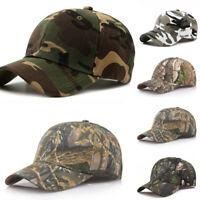 Outdoor Sunscreen Camouflage Hat Cap Women Men Baseball Golf Ball Sport Caps UK