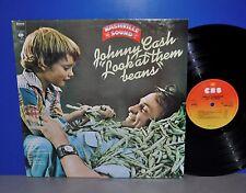 Johnny Cash Look at them beans NL '75 CBS 1st press VG++ Vinyl LP plays great