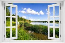 Wandillusion Wandbild FOTOTAPETE Fensterblick Natur Landschaft PVC/VLIES  kr-126
