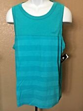 Men's Matix Tank Top M Slim Fit Turquoise Cotton/Polyester New