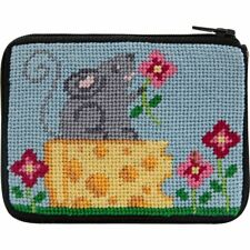 New listing Alice Peterson Stitch & Zip Needlepoint Coin Purse Kit - Mouse and Cheese