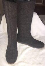 EMU HAMILTON HI CHARCOAL MARLE MERINO WOOL TALL  BOOTS SIZE WOMEN'S Size 8
