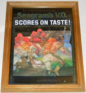 "Seagram's V.O. Scores On Taste! Canadian Whiskey Mirror Sign 22.5"" x 17.5"""