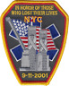 NEW YORK FIRE DEPARTMENT SHOULDER PATCH: 9-11 Memorial for Emergency Medical ...