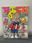 8x10 Uv Black Light  Richie Rich Painting  Acrylic Crypto Money Coin Art