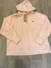 Levi's Women's Hooded Sweatshirt Blush Size Extra Large