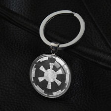 Star Wars Key Rings Imperial Logo Pendant Silver Keychain Gift Keychains XK-140