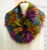 New Ladies Winter Faux Fur Scarf Neck Warmer Wrap Large Collar Shawl Stole Warm