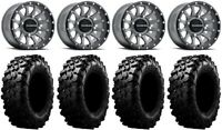 "Raceline Trophy 14"" (6+1) Grey Wheels 32"" Carnivore Tires RZR Turbo S / RS1"