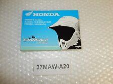 Manuale Conducente Owners Manual Honda xl600v TRANSALP ANNO 97-98 NEW NUOVO