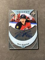 2015-16 UPPER DECK TRILOGY NICK BJUGSTAD ICE SCRIPTS AUTO ACETATE #IS-NB