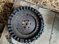 LIVE DRIVE FLY WHEEL - REMOVED FROM MASSEY FERGUSON 35 GREY GOLD