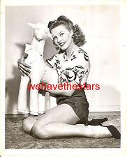 Vintage Gale Robbins SEXY LEGS 40s RADIO SHOW Publicity Portrait