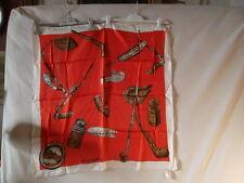 Foulard ancien en soie  pipes XVIIIème siècle marque Baccara Lyon
