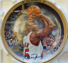 "MICHAEL JORDAN NBA "" THE COMEBACK"" BRADFORD EXCHANGE 1995 COLLECTORS PLATE w/COA"